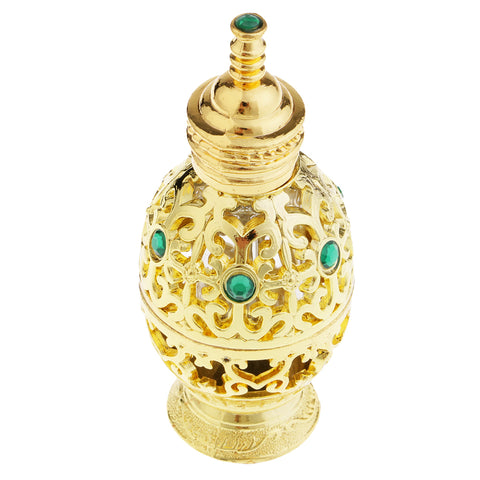 Image of 10ml Antique Perfume Battle Gold Plating Pineapple Type Essential Oil Bottle for Familiy Mother Gifts