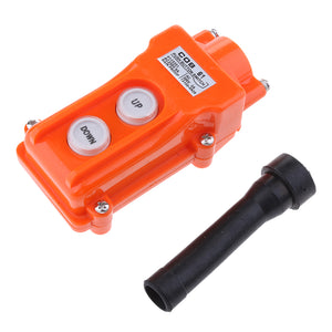 COB61 Hoist Push Button Switch Up-Down IP55 Rain-proof Crane Pendant Button