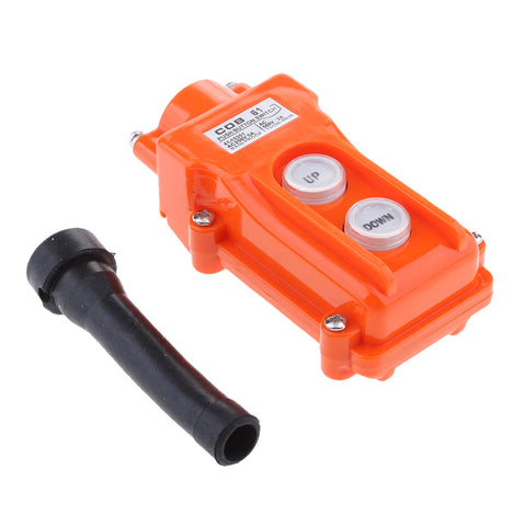 Image of COB61 Hoist Push Button Switch Up-Down IP55 Rain-proof Crane Pendant Button