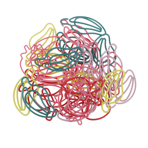 Image of 30 Pieces Multicolors Creative Fruit Shapes Paper Clips, Metal Wire Hangers for Office Supplies School Student Art Supplies, Bookmarks, File Paper Documents Paperclips
