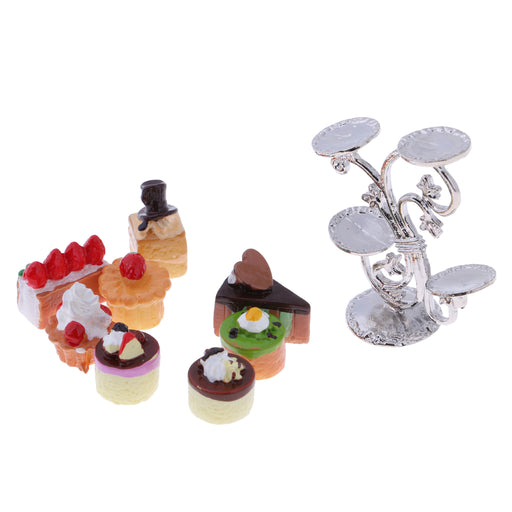 1:12 Dollhouse Mini Fruit Stand with Various Fruit Cakes Groceries Home Accessories