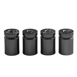 Pack of 4 Aluminum Alloy Car Truck Bicycle Tire Stem Valve Caps Dust Covers Protectors
