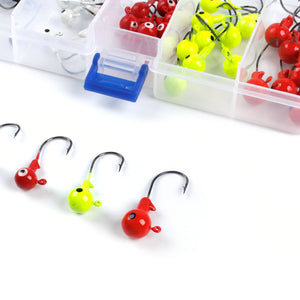 50pcs Super Sharp Lead Head Fishing Hooks for Soft Lures Earthworm Lobster