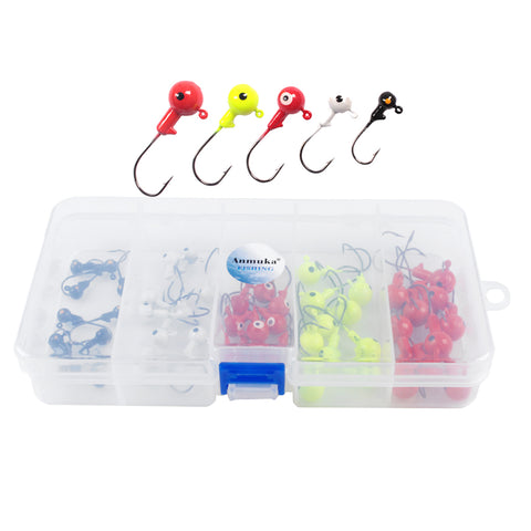 Image of 50pcs Super Sharp Lead Head Fishing Hooks for Soft Lures Earthworm Lobster