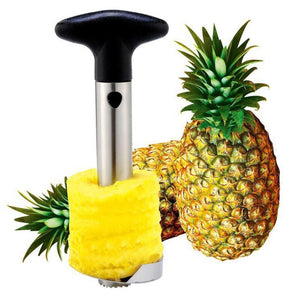 Stainless Steel Pineapple Corer All in One Pineapple Tool, Slicer and Cutter Non Slip Detachable Handle, Core Remover Tool