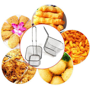 French Fries Basket Metal Wire Food Colander Sifter Fine Mesh Cookware