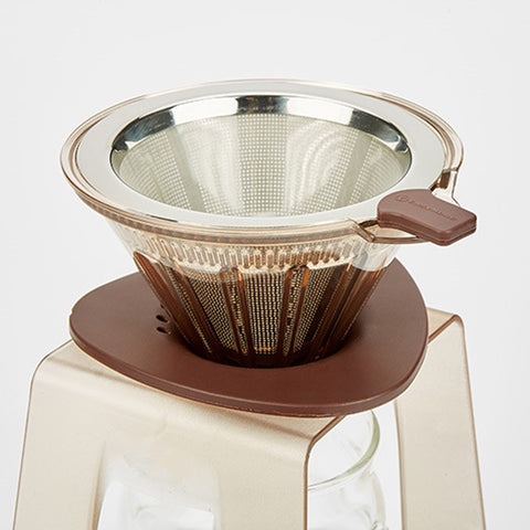 Image of 1pc Drip Station Drip Coffee Stand Pour Over Coffee Dripper Stand Filter Holder Gift, Brown