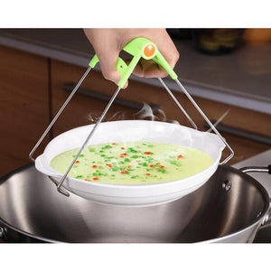 Stainless Steel Bowl Clip Taken Against Hot Dishes Clamp Lifting Retriever Tongs Carrier for Hot Kitchenware, Instant Pots Crockery Holder Clamp