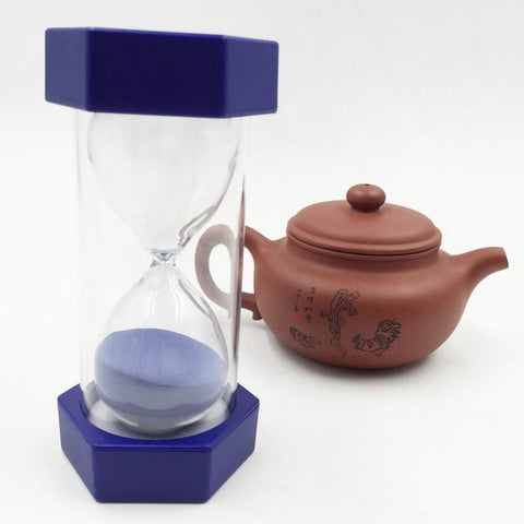 Image of Plastic Sand Timer Hourglass Study Kitchen Tea Coffee Clock 8 Minutes Blue