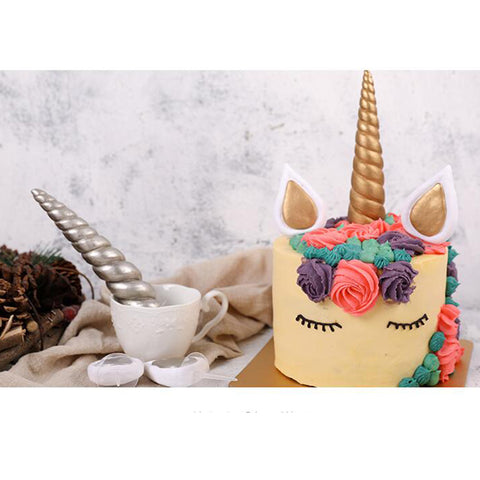 Image of 1 Set Unicorn Cake Topper Happy Birthday Candle Party Supplies Decor DIY