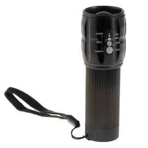 Portable Ultra Bright Handheld LED Flashlight with Adjustable Focus and 3 Light Modes, Outdoor Camping Hiking Torch