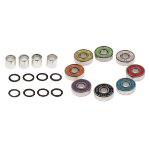 Skateboard Speed Kit- Bearing ,Spacers And Speed Washers Colourful