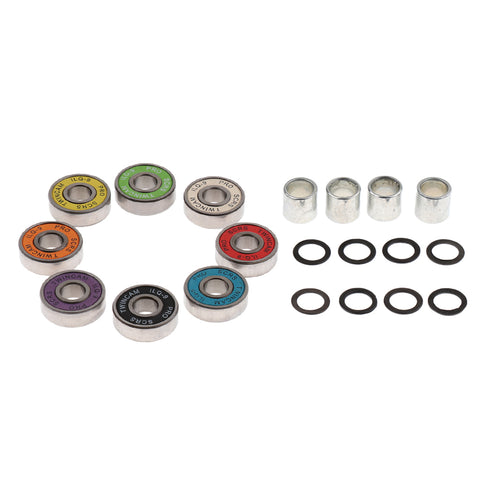 Image of Skateboard Speed Kit- Bearing ,Spacers And Speed Washers Colourful