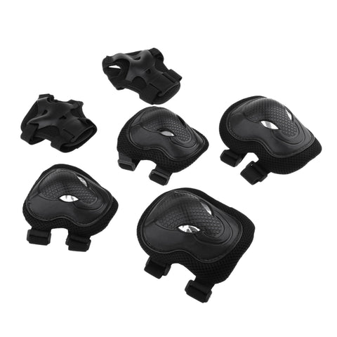 Image of 6 Pcs Adults Inline Skating Skateboard Knee Wrist Guard Elbow Pad Protective Set