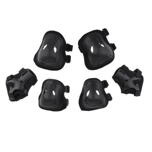 6 Pcs Adults Inline Skating Skateboard Knee Wrist Guard Elbow Pad Protective Set