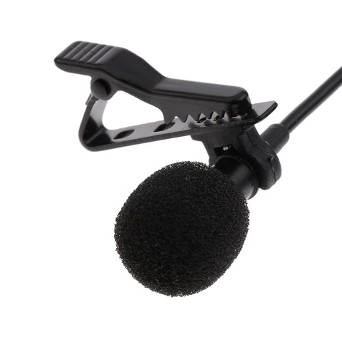 Image of Universal Black USB Plug Lapel Collar Clip-on Condenser Microphone Dual Head Wired Mic 1.5m/4.92ft