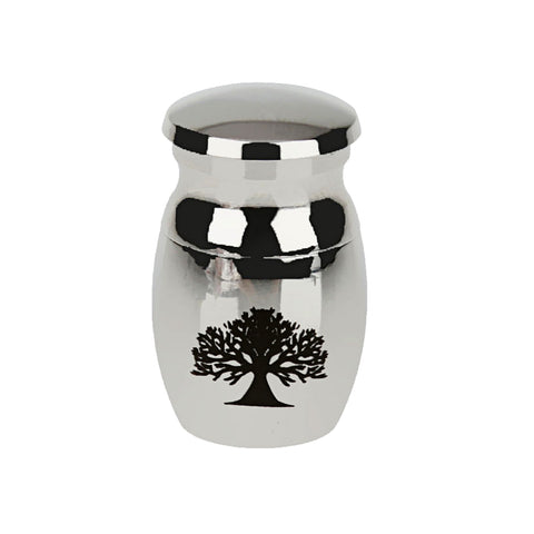 Image of Tree of Life Stainless Steel Waterproof Pet Funeral Memorial Urn Filler Kit Keepsake
