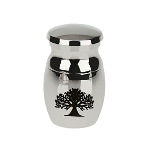 Tree of Life Stainless Steel Waterproof Pet Funeral Memorial Urn Filler Kit Keepsake
