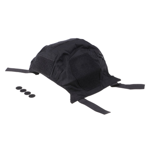 Image of Camouflage Nylon Army Game Gear Combat Helmet Accessories Cover for Fast Helmets Black