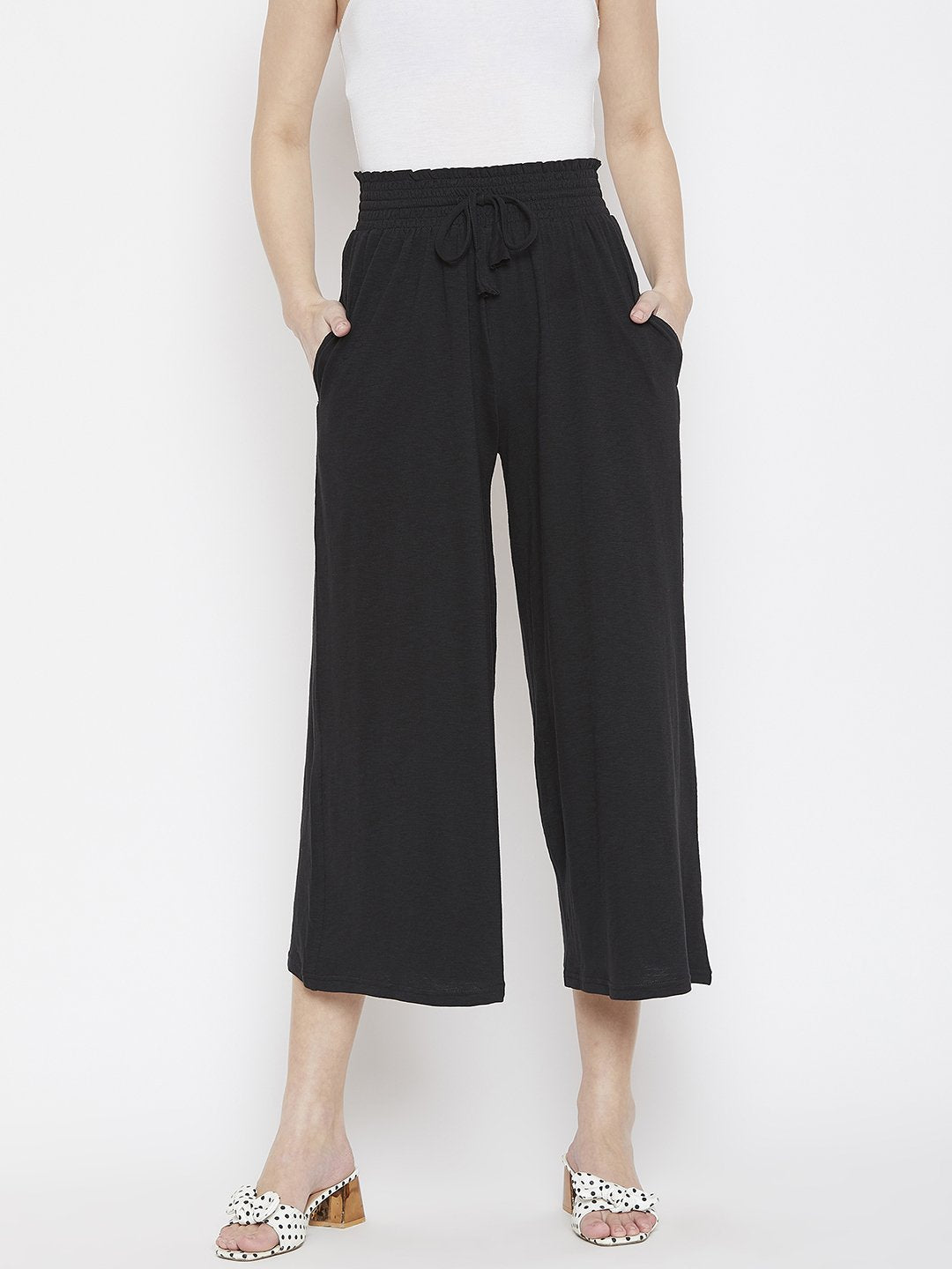 smocking waist knit pants