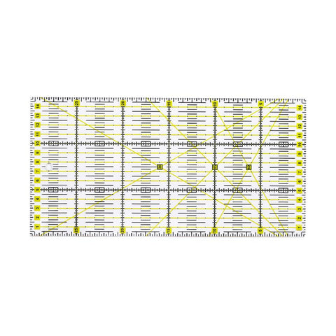 3 Style Square Quilting Ruler Set, Cut Acrylic Quilters' Ruler with Double Colored Grid Lines for Easy Precision Cutting