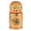 Delicate Golden Maneki Neko Russian Babushka Matryoshka Nesting Dolls New Year Gift Home Office Ornaments 5 Pieces Set