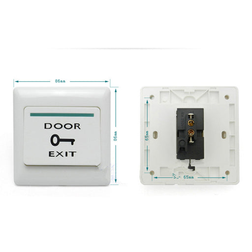 Fireproof Resin Door Exit Push Release Button Switch For Access Control