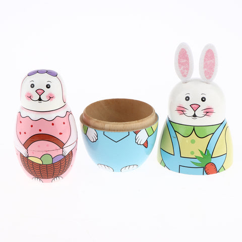 5 Pieces Wooden Hand Painted Russian Nesting Dolls Table Decoration