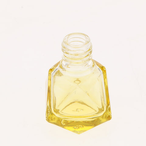 Empty Refillable Glass Perfume Bottle Hanging Pendant Car Home Decor Yellow