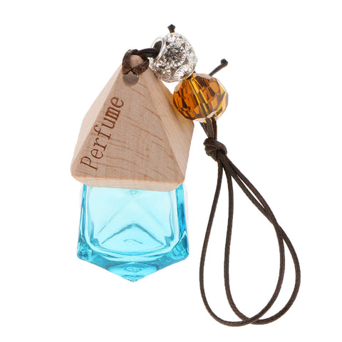 Empty Refillable Glass Perfume Bottle Hanging Pendant Car Home Decor Green