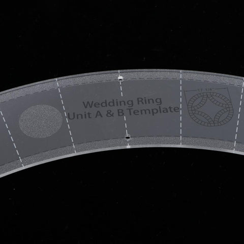 Double Wedding Ring Template Tailor Acrylic Sewing Craft Quilting Ruler Set