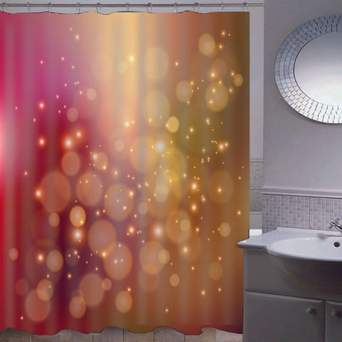 Mosaic Waterproof Bathroom Curtain with Hook Bath Curtain Pink and Yellow
