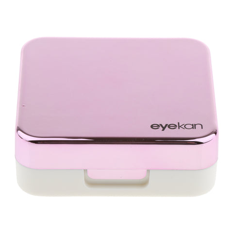 Mini Simple Contact Lens Travel Case Box Container With Mirror Rose Red