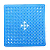 Non Slip Bath Tub and Shower Mat with Suction Cups 54x54cm Transparent Blue