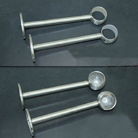 Image of 2Pcs Stainless Steel Bracket Clothes Ceiling Fitting Parts Supports Size 2