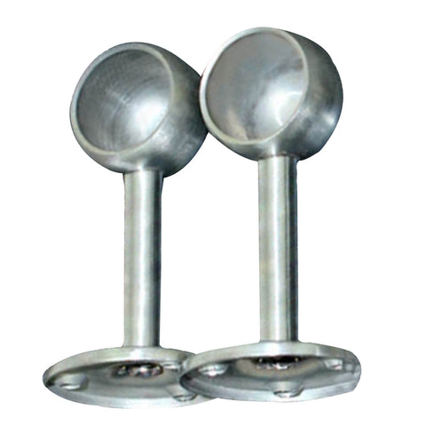 2Pcs Stainless Steel Bracket Clothes Ceiling Fitting Parts Supports Size 2