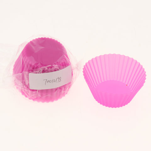 Image of Silicone Muffin Cup Round 7cm Cake Cup Small Cake Mould Rose Red