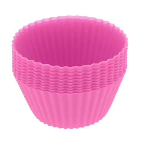 Silicone Muffin Cup Round 7cm Cake Cup Small Cake Mould Rose Red
