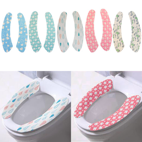 Image of 2 Pieces Gel Toilet Seat Cushion Portable and Washable  Water drop