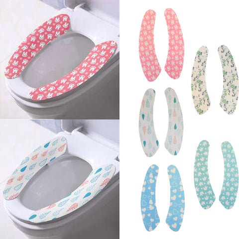 2 Pieces Gel Toilet Seat Cushion Portable and Washable  Water drop