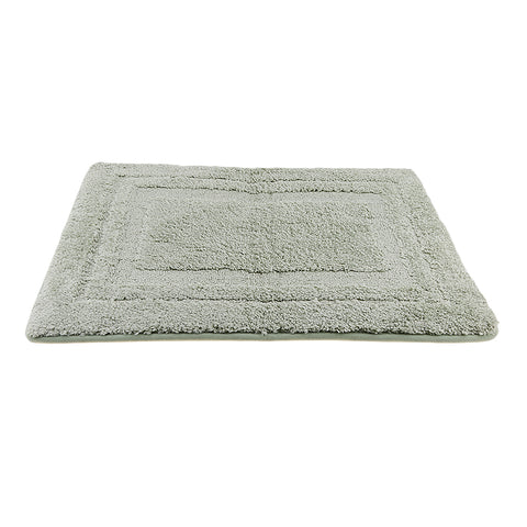 Image of Bathroom Non-Slip Door Mat Bathmat Floor Rug Pure Color Light Green 50x80cm