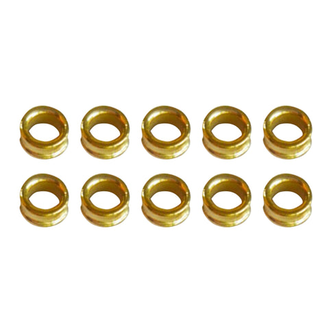 10pcs Fishing Rod Guides Ring DIY Pole Guide Repair Golden Groove 05