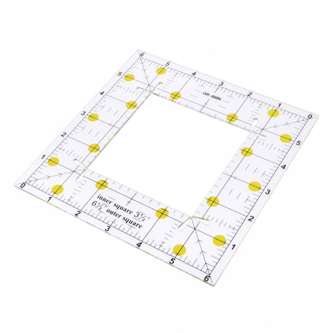 1 Piece Acrylic Square Quilting Template Patchwork Tailor Sewing Ruler