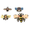 4Pcs/set Bees Sequins Rhinestone Beaded Applique Patches Embellishments
