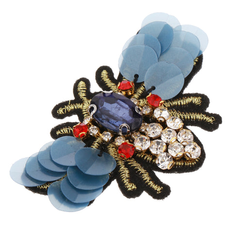 Image of 4Pcs/set Bees Sequins Rhinestone Beaded Applique Patches Embellishments