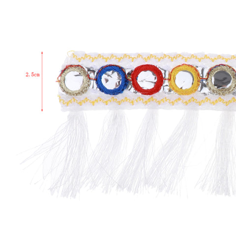 Image of 1 Yard Jacquard Ribbon Tassel Trim for Curtain Cushion Home Decoration 2.5cm