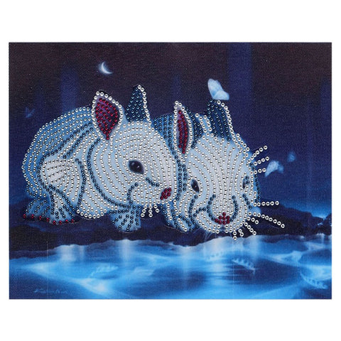 5D DIY Special Shaped Diamond Painting Pictures Mosaic Crafts Rabbit