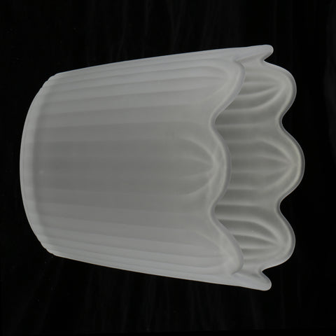 Chandelier Light Tulip Ruffle Crimp Shade Frosted Vintage Lamp Shade 3