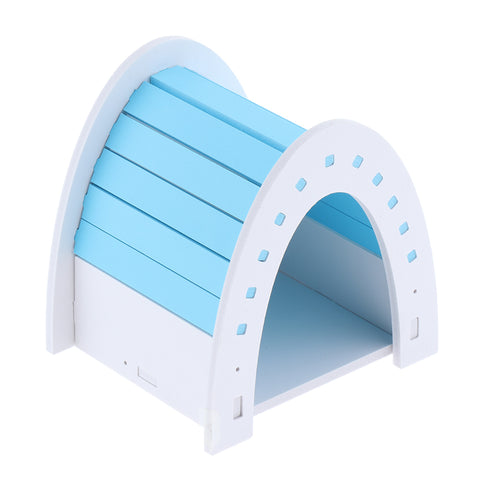 Hamster House Hideout Hideaway Exercise Toys for Rat Small Animal  blue