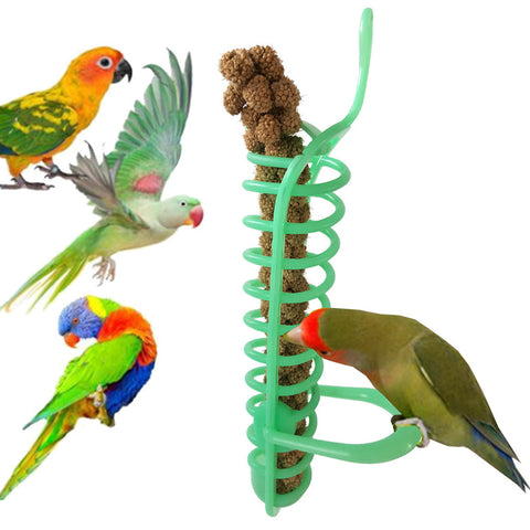 Image of Bird Foraging Feeder Hanging Intelligence Toy Cage Feeder Three-piece suit